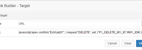 Buttons mit Confirm-Message in Report einbauen | Markus Hohloch